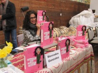 """Mercedes Gonzalez with her newly released book """"Chronicles of a Fashion Buyer"""""""