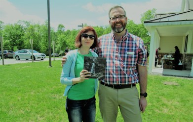 Simona David with Jeff Senterman