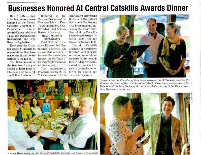 Chamber of Commerce Awards in The Mountain Eagle June 21, 2019