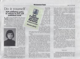 Self Publishing Guide in The Woodstock Times May 16, 2013